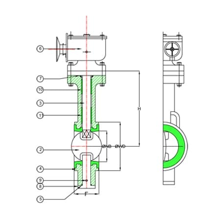 Triple Offset Disc Butterfly Valve, Double Offset Disc Butterfly Valve