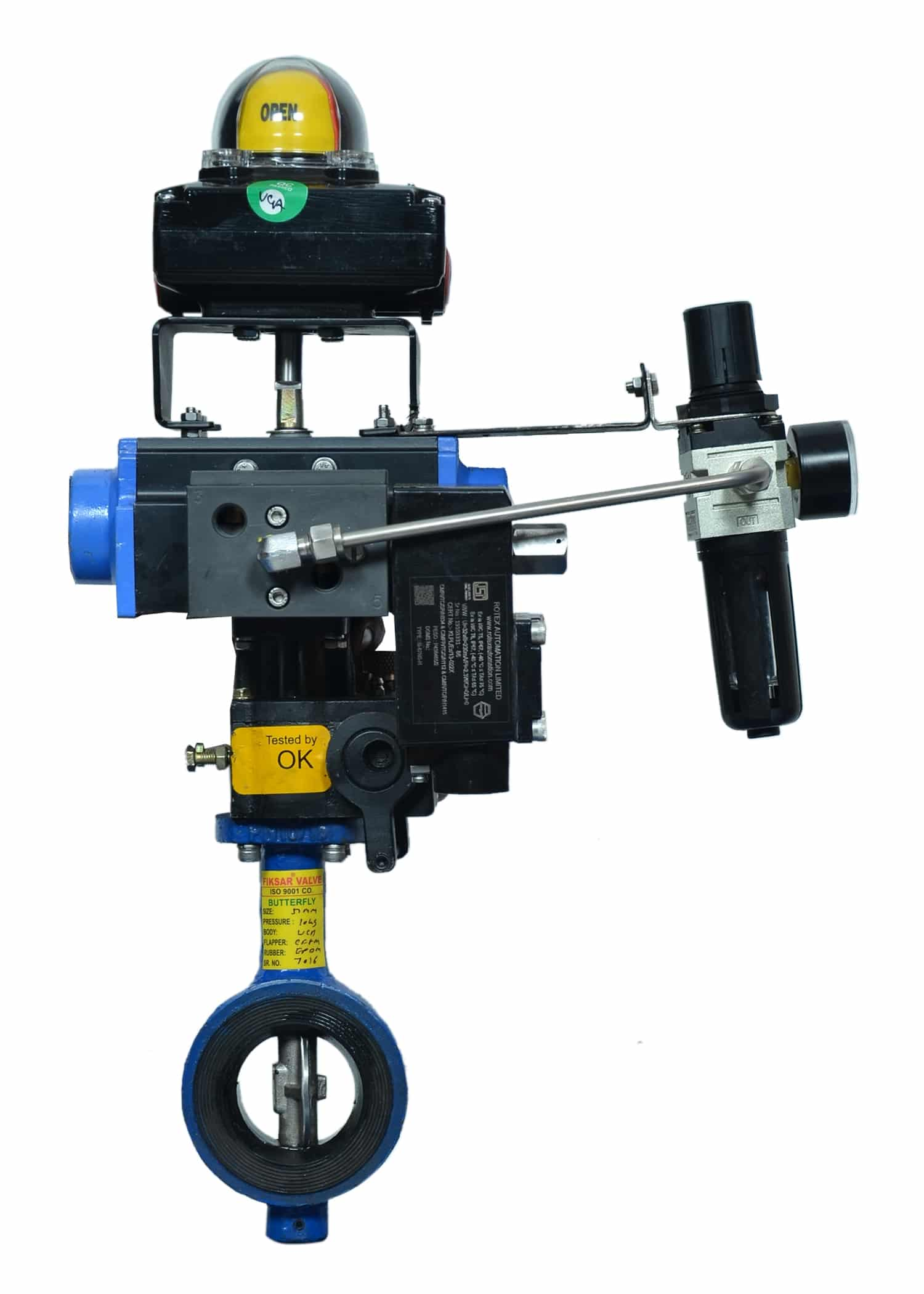 butterfly-valve-50mm, Butterfly Valve Pneumatic Actuator Operated
