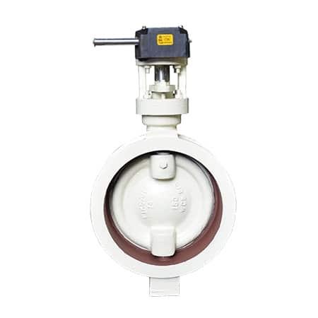 butterfly-valve-double-offset-disc-350mm, Teflon/ptfe lined butterfly valve